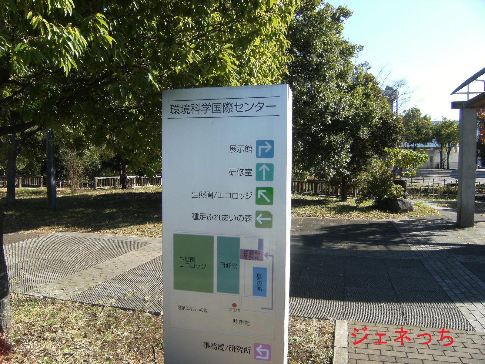 環境科学国際センターの看板