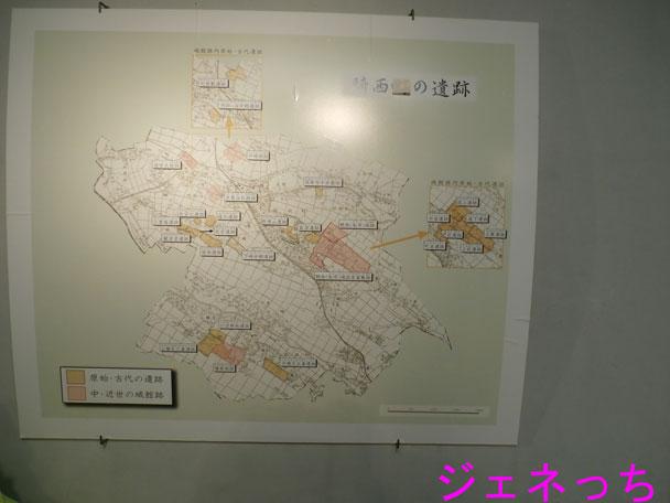 騎西の遺跡の地図