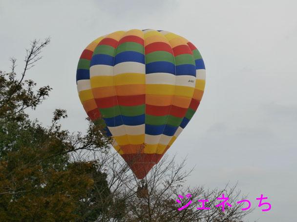 銀杏祭2014熱気球搭乗体験